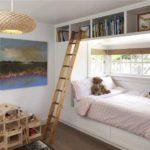 Оформление детской комнаты мебельная стенка у окна с нишей для кровати
