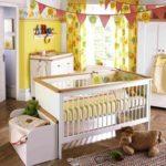Оформление детской комнаты новорожденного с царговой кроватью