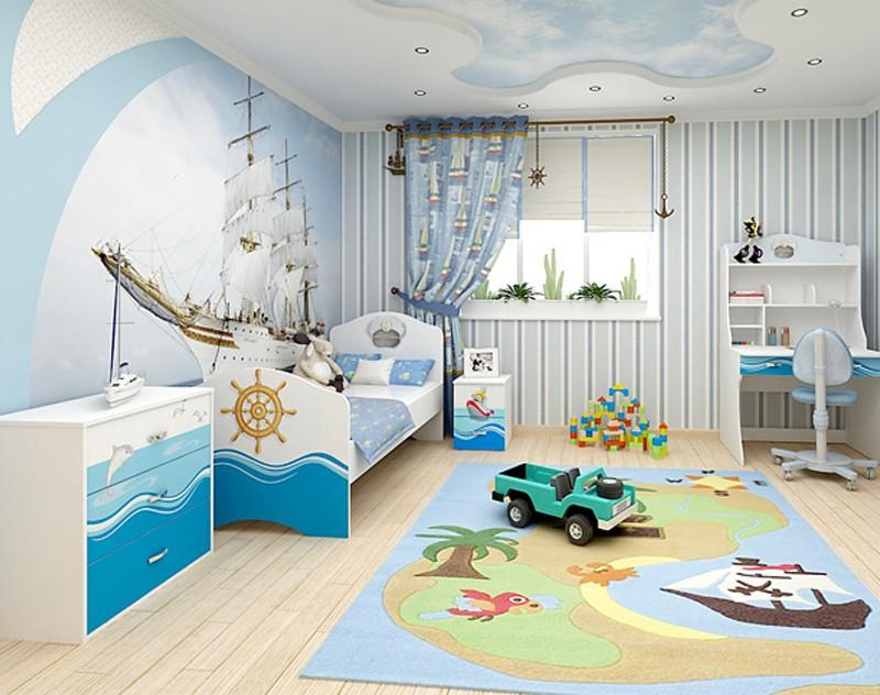 Оформление детской комнаты рулонные шторы