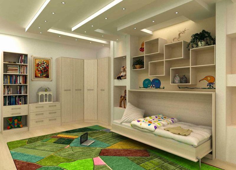 Оформление детской комнаты с мебелью-трансформером