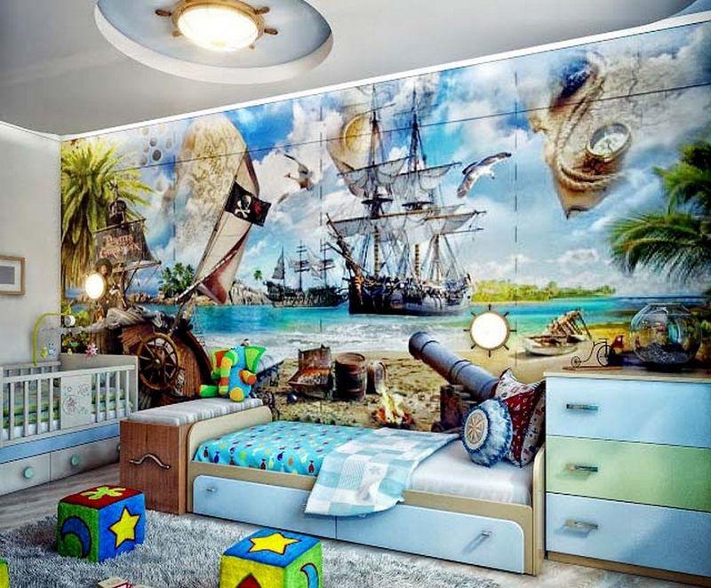 Оформление детской комнаты школьника 3d-обои