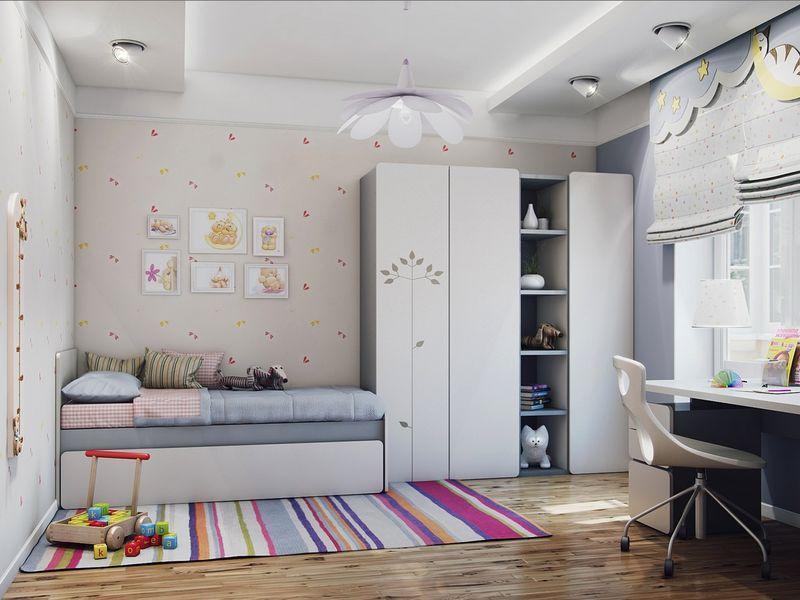 Оформление детской комнаты школьника декор стен