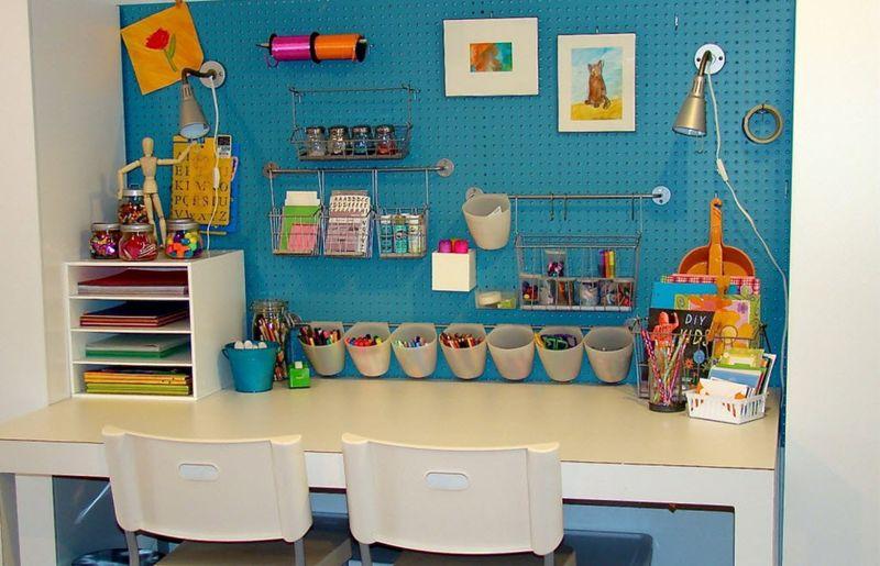Оформление детской комнаты школьника место для рукоделия