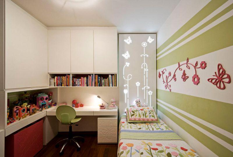 Оформление детской комнаты школьника освещение