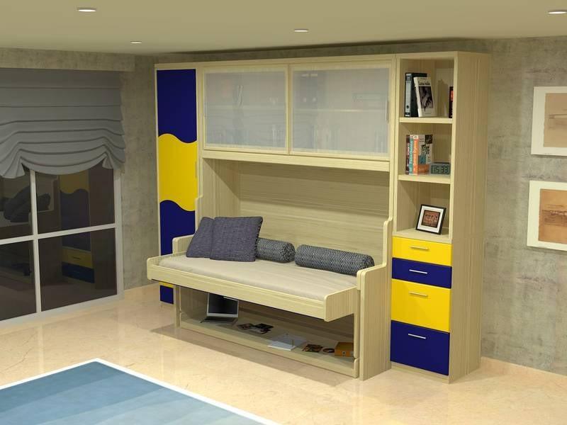 Оформление детской комнаты учебный стол становится кроватью