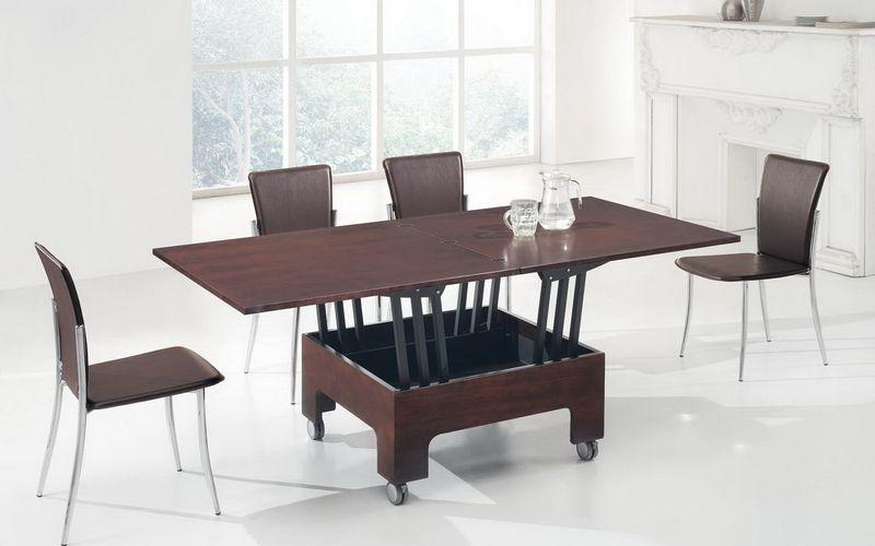 Оформление гостиной комнаты стол трансформер