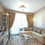 Оформление гостиной комнаты в хрущевке под классический стиль