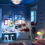 Оформление маленькой детской комнаты с системой освещения