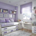 Оформление маленькой детской комнаты в сиреневых тонах