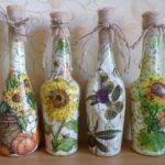 Поделки для кухни своими руками бутылки декупаж