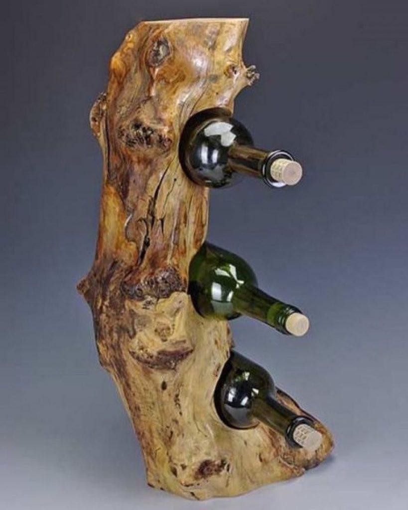 Поделки для кухни своими руками бутылочница из коряги