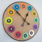 Поделки для кухни своими руками часы с оригинальным циферблатом