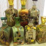 Поделки для кухни своими руками коньячные декоративные бутылки