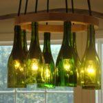 Поделки для кухни своими руками люстра из стеклянных бутылок