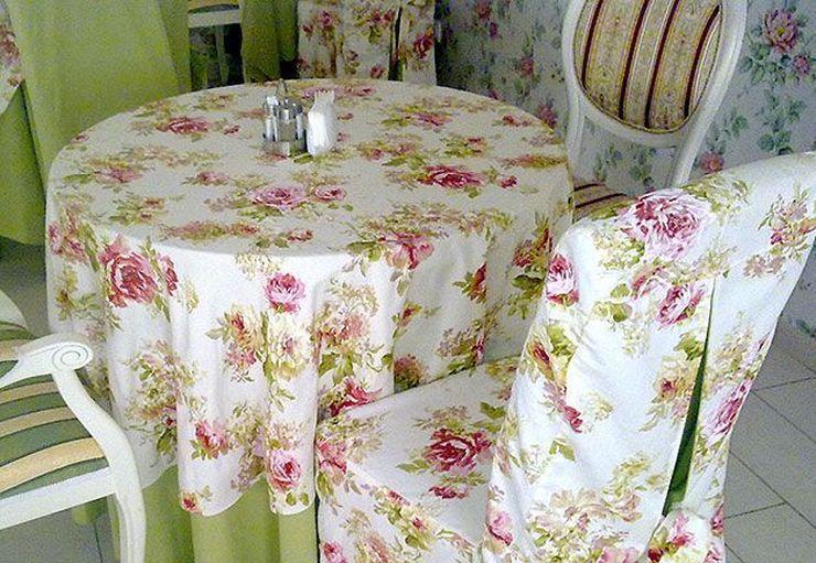 Поделки для кухни своими руками Прованс чехлы для стульев и скатерть