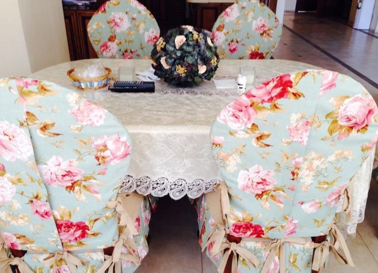 Чехлы на стулья прованс своими руками 44