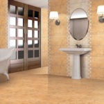 Бежевый и рыжий для декора ванной комнаты