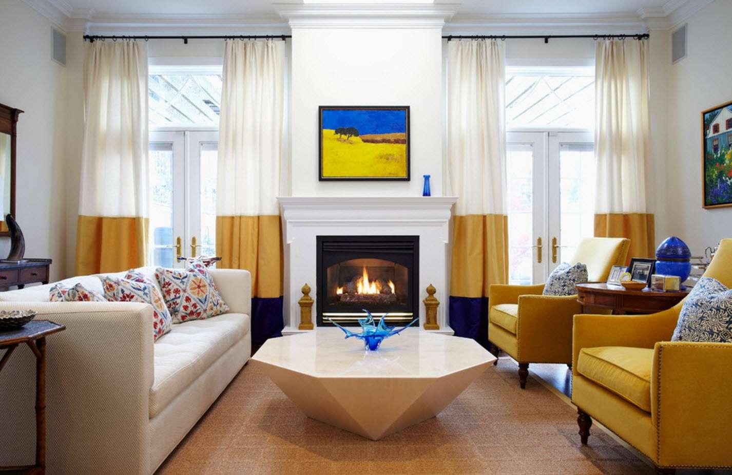 шторы в гостиной фото дизайна