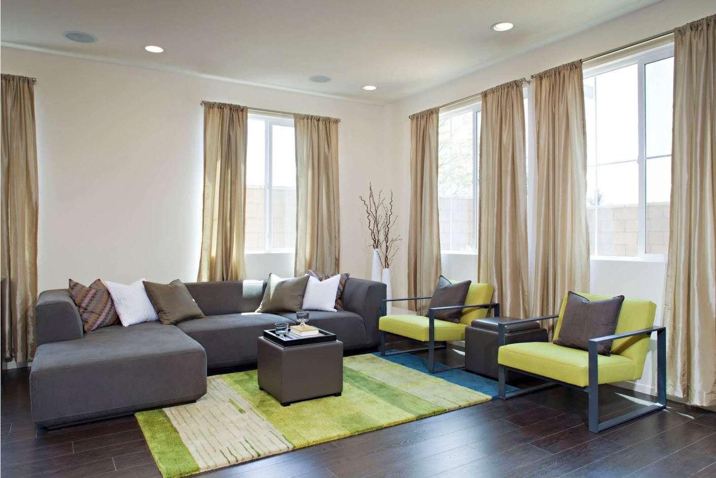 шторы на окнах в гостиной идеи дизайн