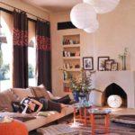 шторы на окнах в гостиной оформление идеи