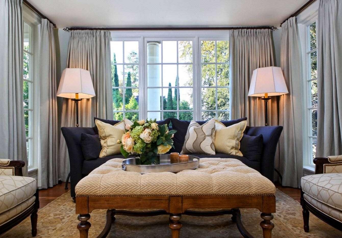 шторы в гостиной дизайн идеи