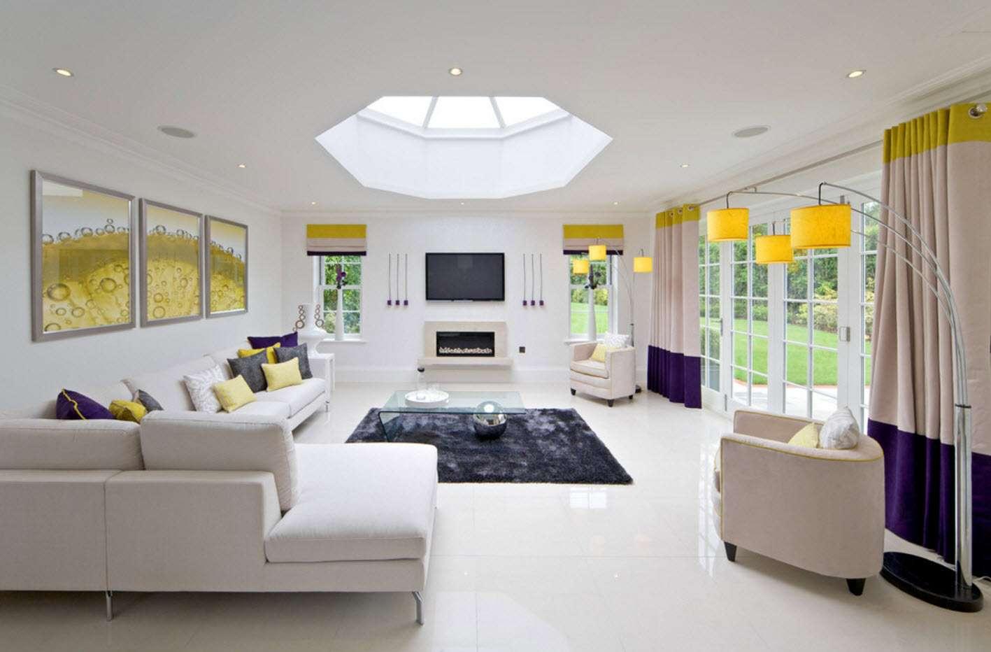 идеи дизайна штор в гостиной