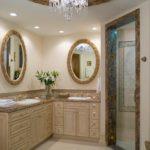 Классической бежевый дизайн ванной
