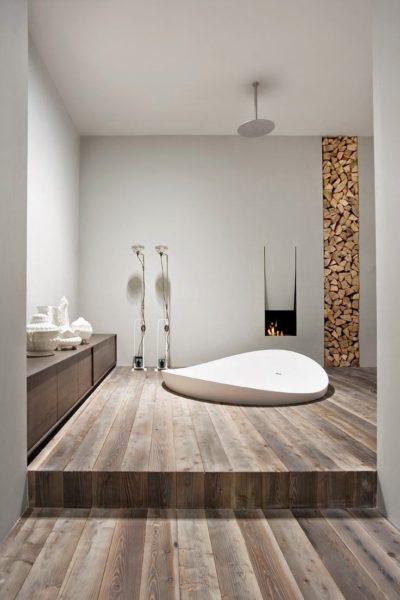 Современная ванная комната в дизайнерском стиле