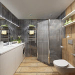 Современный дизайн ванной комнаты кафель под бежевый и серый мрамор