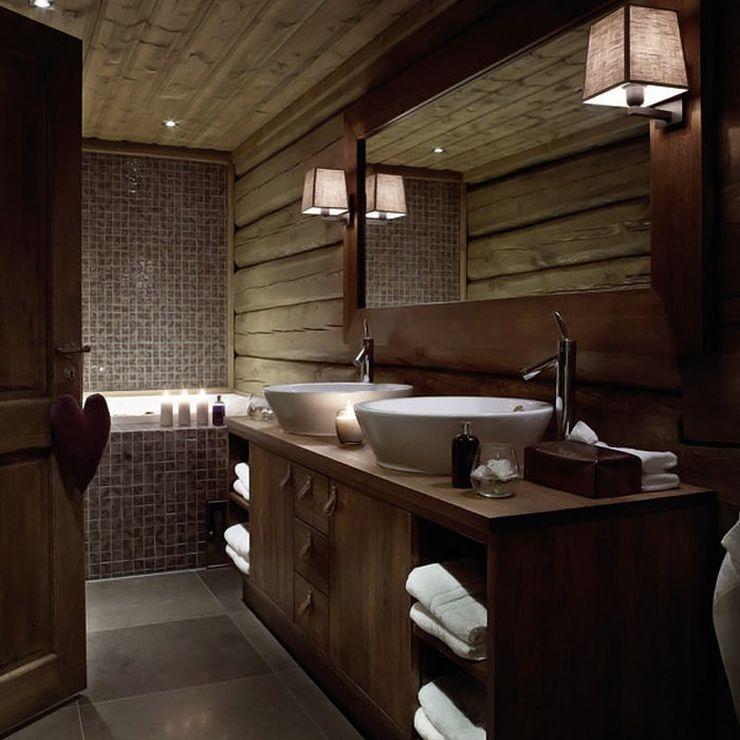 современный дизайн ванной комнаты мебель из массива