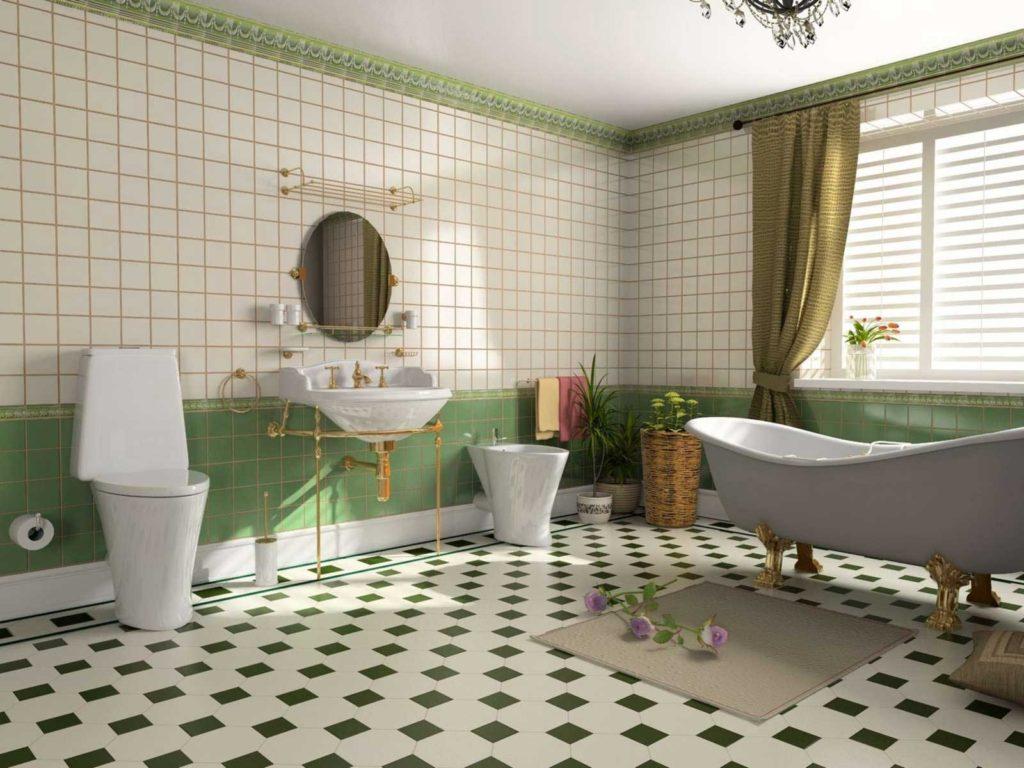 Современный дизайн ванной комнаты плитка во влажной среде