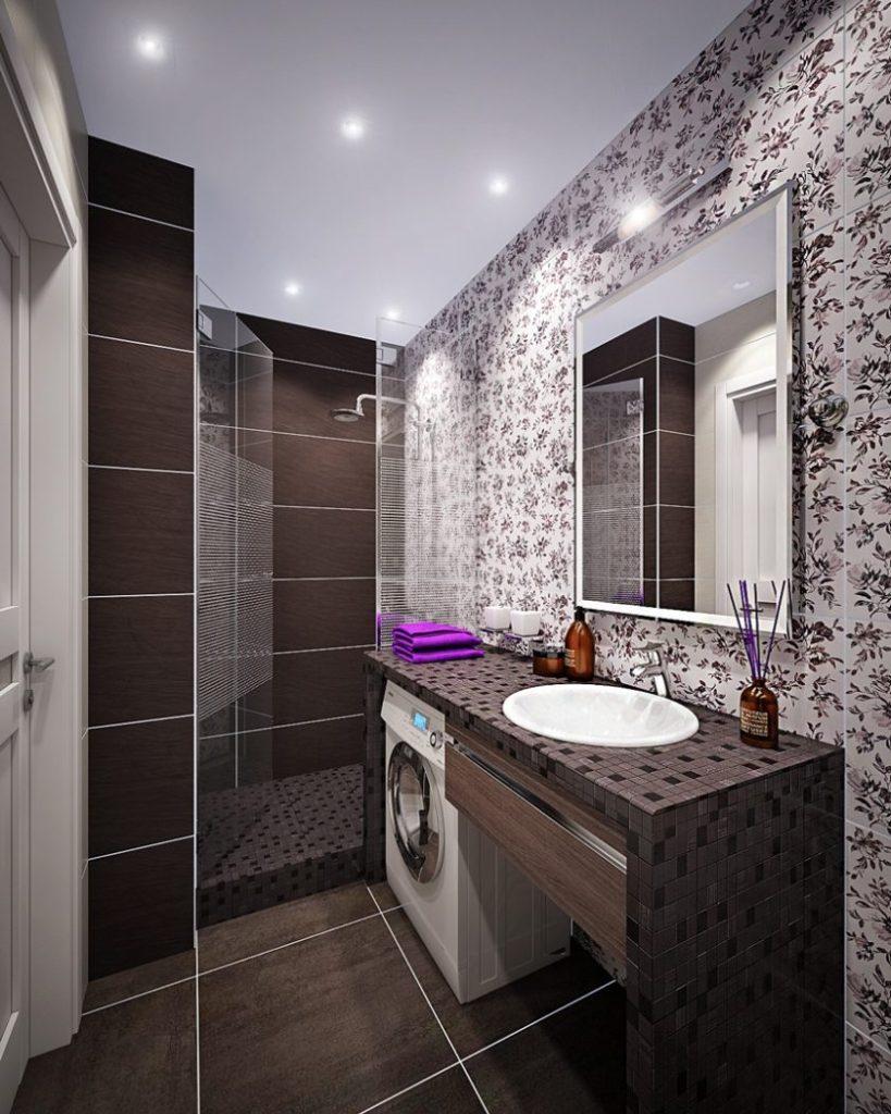 Современный дизайн ванной комнаты широкий выбор материалов