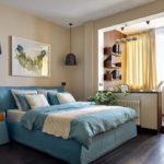 спальня с балконом декор идеи