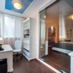 спальня с балконом дизайн интерьер