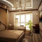 спальня с балконом оформление
