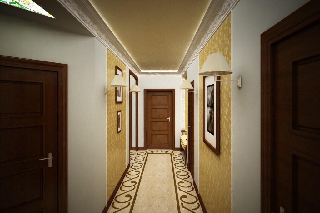 фото дизайна узкого коридора