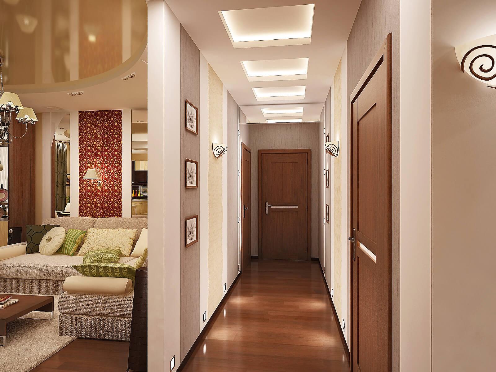 потолок в узком коридоре