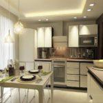 элитный дизайн кухни в квартире