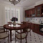 элитный дизайн кухни гарнитур из дерева