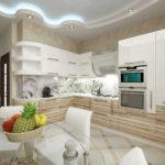 элитный дизайн кухни в светлых тонах