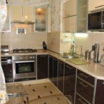 узкая кухня фото дизайна