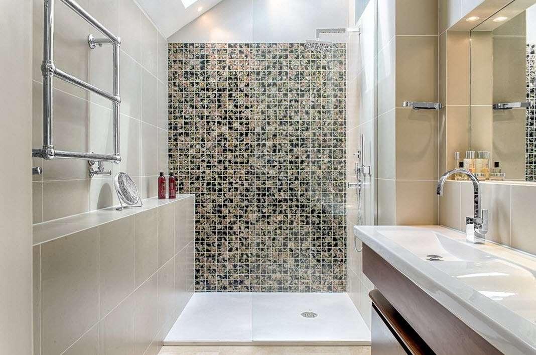 ванная с душевой кабиной фото оформления