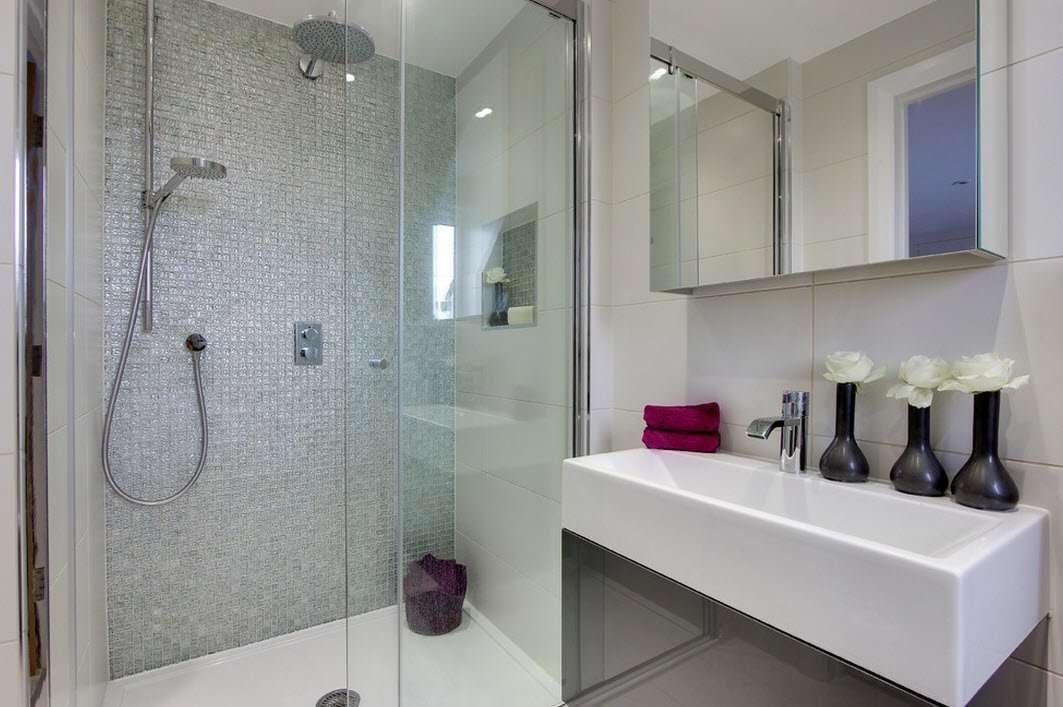ванная с душевой кабиной идеи оформления