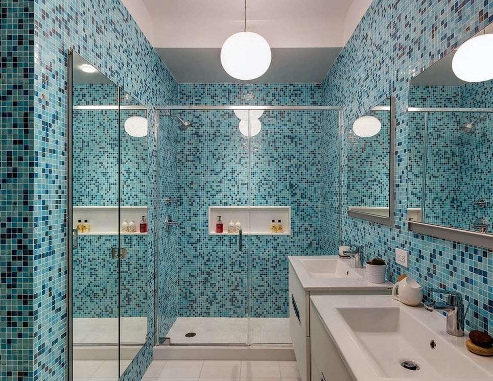 ванная с душевой кабиной интерьер