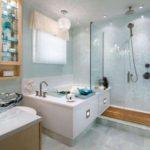 ванная с душевой кабиной декор фото