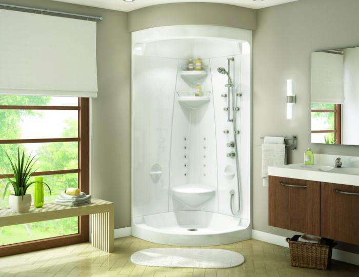 ванная с душевой кабиной стильный дизайн