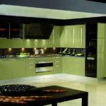 зеленая кухня фото оформление