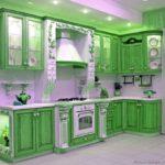 зеленая кухня идеи дизайна