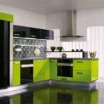 зеленая кухня варианты оформления