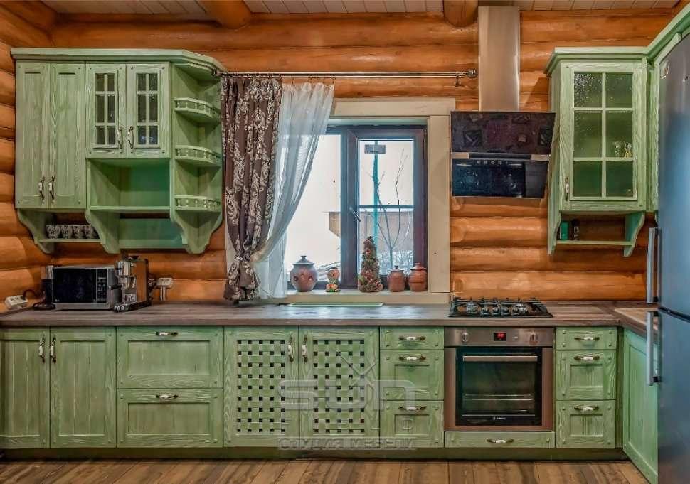 зеленая кухня кантри